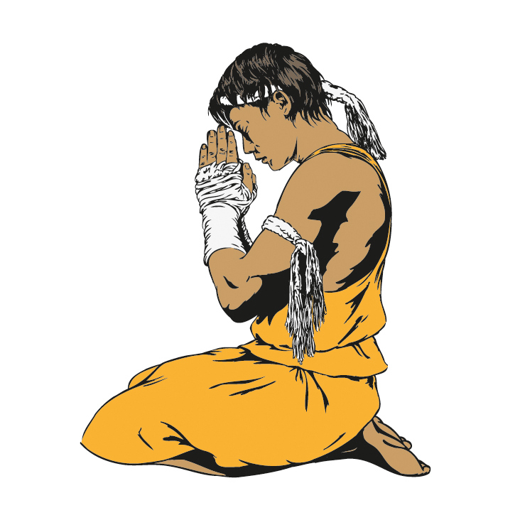 Tony Jaa vector / illustrator
