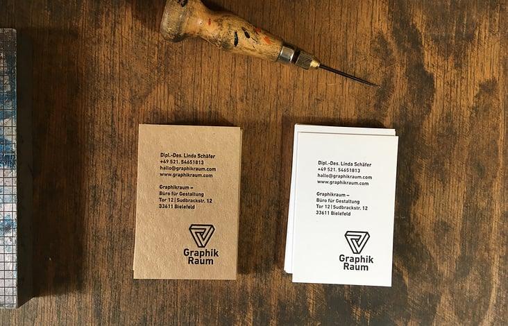 Graphikraum – Visitenkarten Letterpress