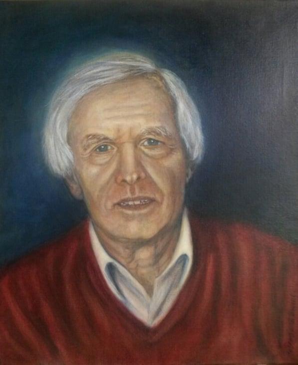 Anton H. 2017, Öl auf Leinwand, 40 × 50cm