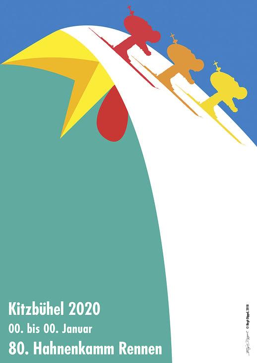 Hahnenkamm-Rennen Plakat 2019