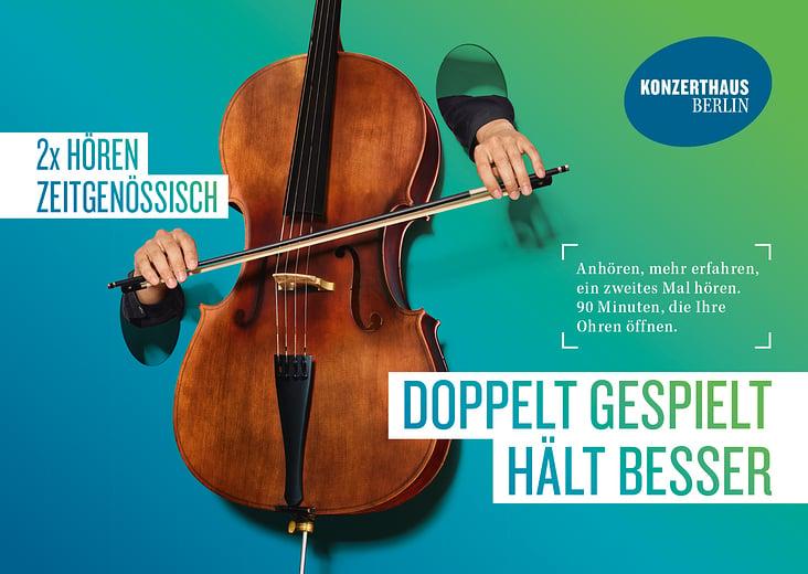 """Kampagnenmotiv für das """"Konzerthaus Berlin"""""""