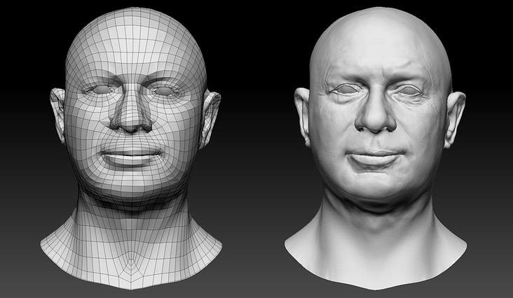 Facial sculpting 5