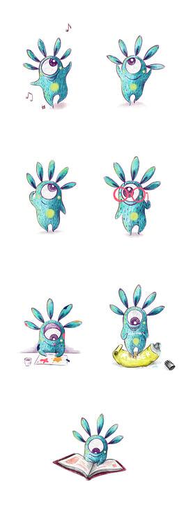 "Character Design ""Nömu"""