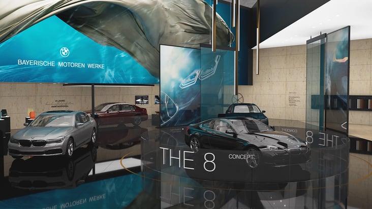 Animation für den BMW-Messestand auf der IAA 2017