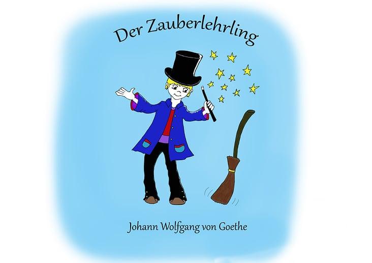 "Entwurf Buchcover ""Der Zauberlehrling"""