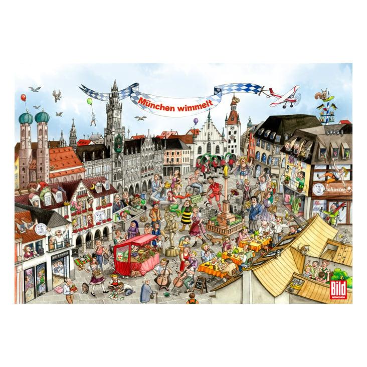 Wimmelbild »Kauf lokal«