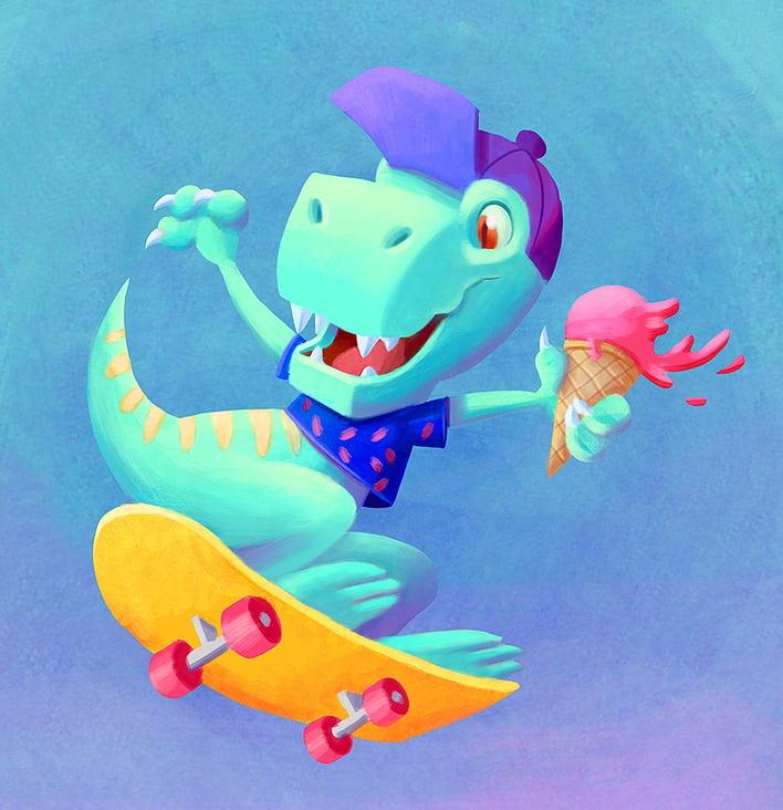 Skater Dino