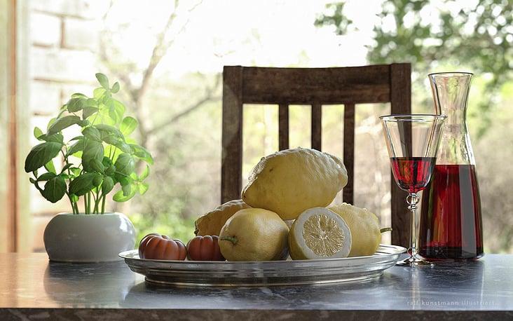Zitronen Amalfi Silbertablett web