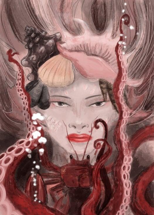 Meerjungfrauporträt