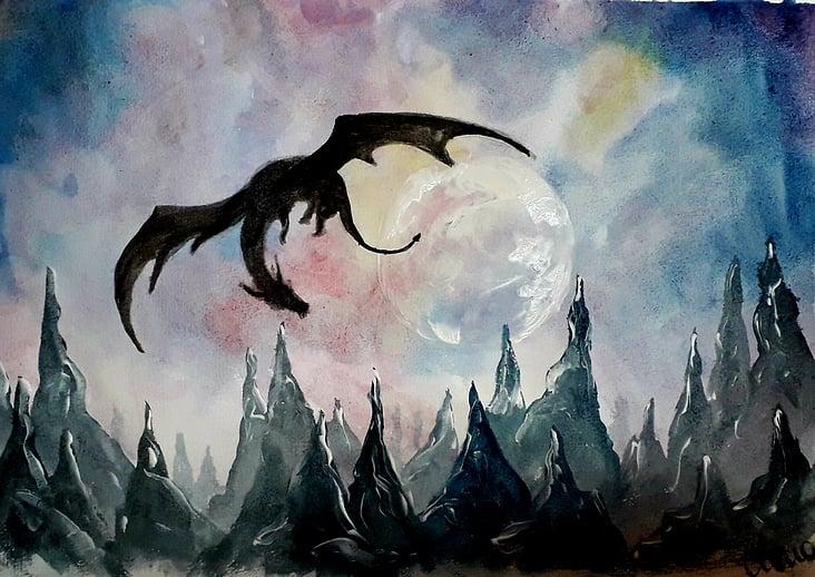Fantasyart Drachenlandschaft