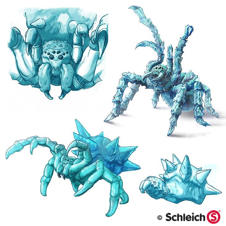Schleich Eisspinne– Concept Art