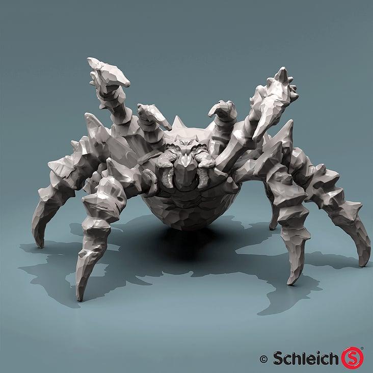 Schleich Eisspinne– Finales 3D Modell