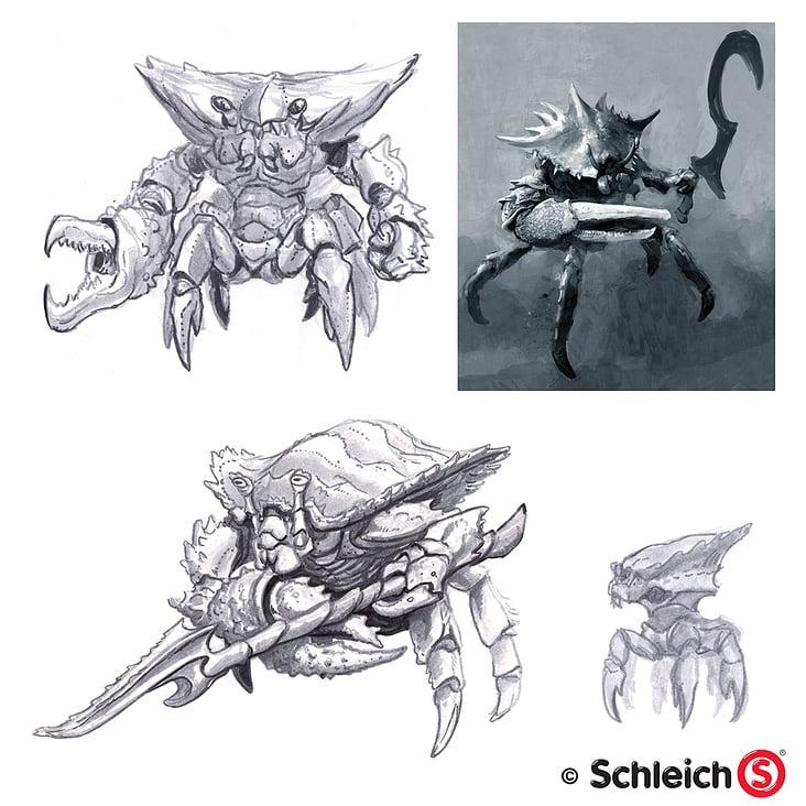 Schleich Kampfkrabbe– Concept Art