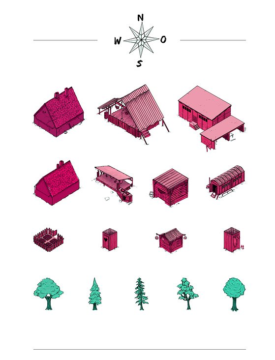 Wilde Möhre Festival Map Illustrations