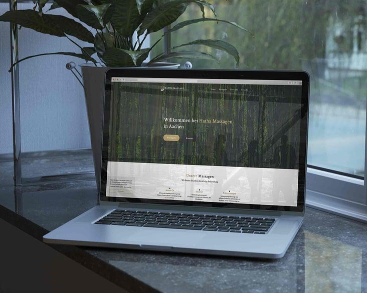 Website für Hatha Massagen Aachen