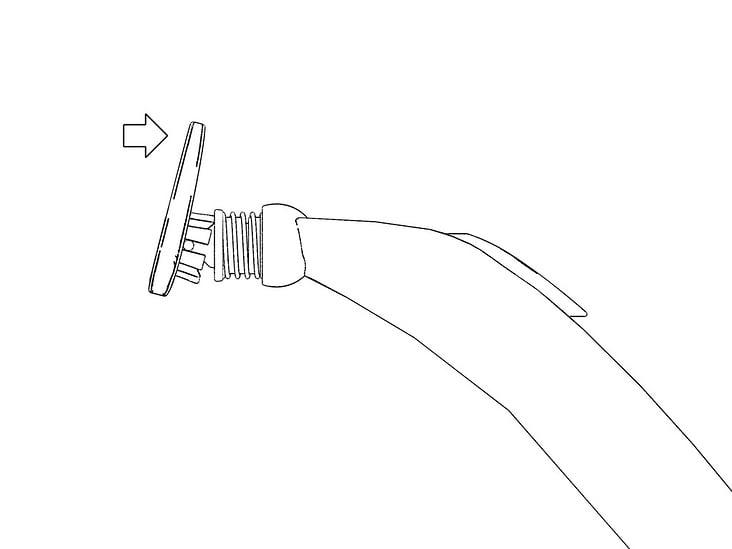 Entwurf eines Nassrasierers mit Schwenkfunktion des Rasierkopfes in zwei Achsen, Schwenkfunktion vertikal