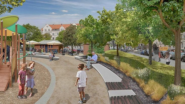 Visualisierung Landschaftsarchitektur Moltkeplatz