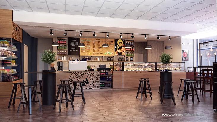 Immobilien-Visualisierung Kaffee