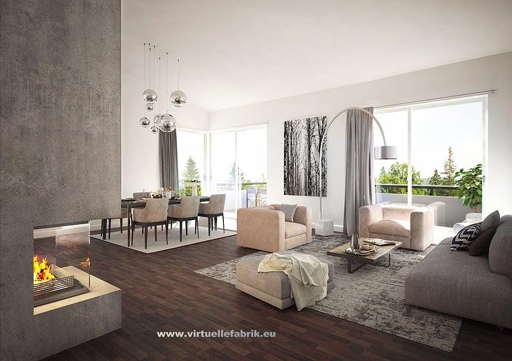 Immobilien-Visualisierung Wohnzimmer