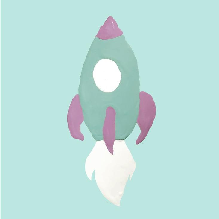 Simples kindgerechtes Motiv– Rakete