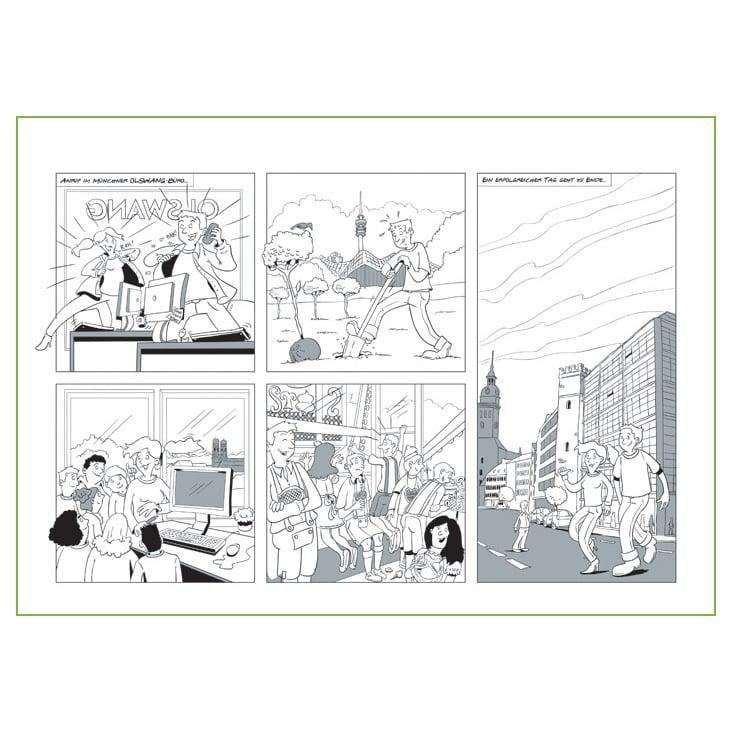 Comic für eine internationale Kanzlei