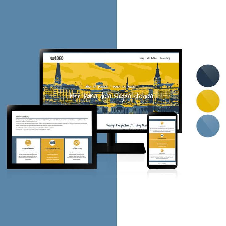 Webdesign– Designvorlage