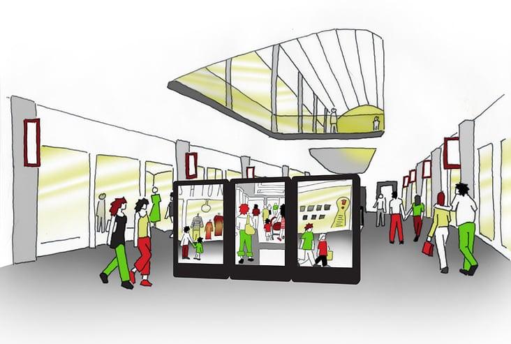Virtual Space– Illustration für Verkaufsgespräche