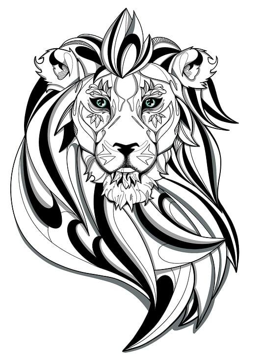 Lion in black