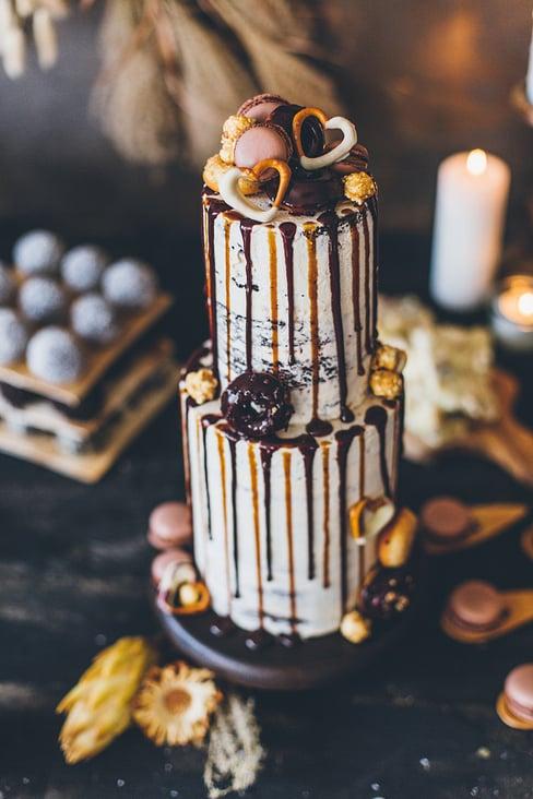 Hochzeitstorte-Winterhochzeit schokolade 07