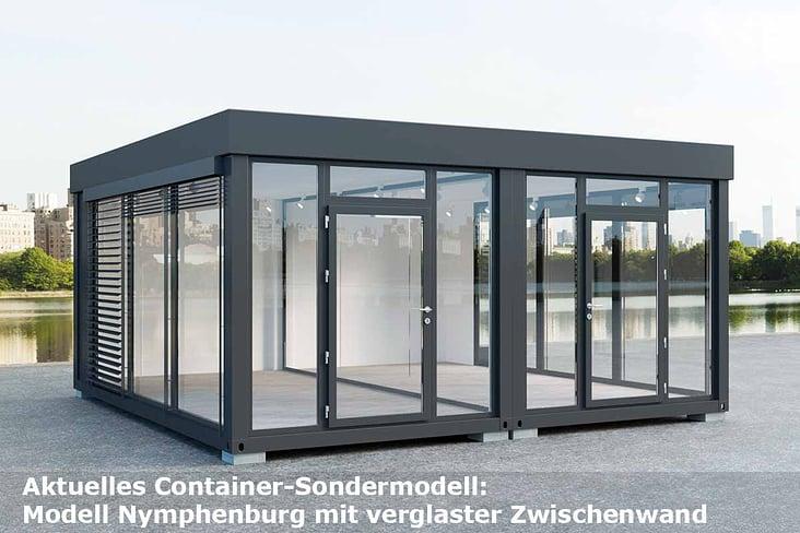"Doppel-Home-Offiice Container mit verglaster Zwischenwand ""Corona Container"""