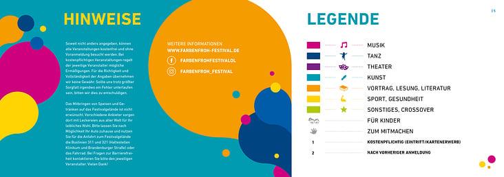Kulturfestival Farbenfroh Programmheft
