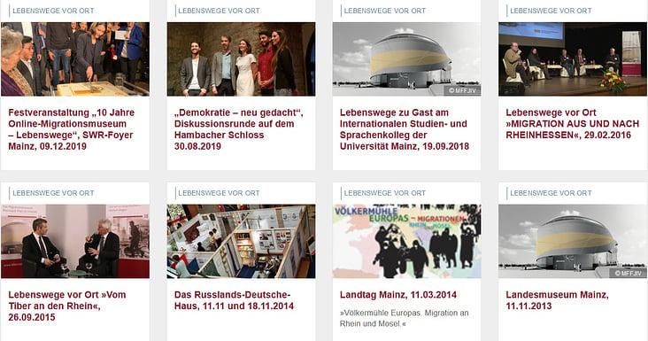 """Konzept und Umsetzung der Veranstaltungsreihe """"Lebenswege vor Ort– wir schaffen Begegnungen"""""""