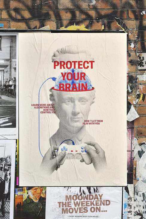 felix hartig protect your brain plakat 1a