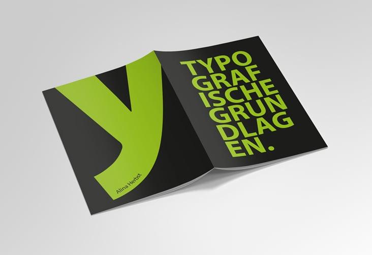 Broschüre über Typografie