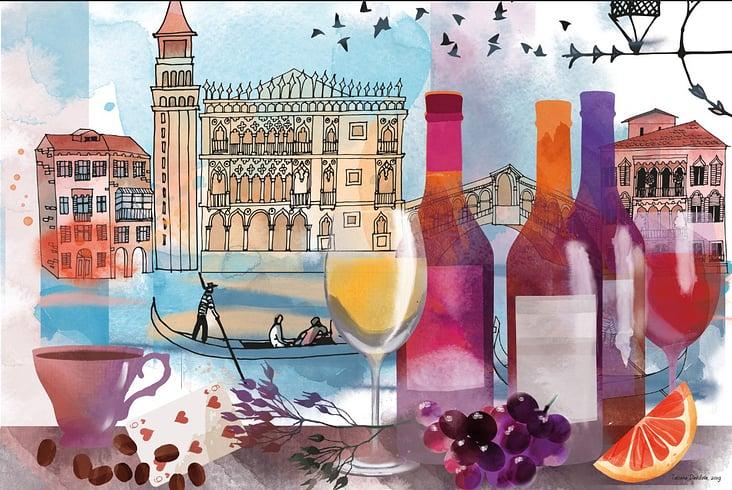 Ein Tag in Venedig vector Poster