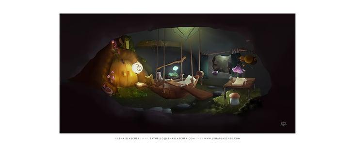 Layout und Backgroundpainting für ein Spieleerlebnis mit Parallaxe-Effekt, Children of Lumera