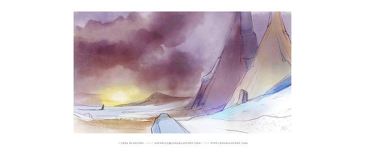 persönliches Projekt Layout in Aquarelloptik (digital)