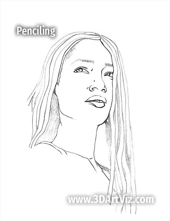 portrait study 2020 05 05 010 penciling