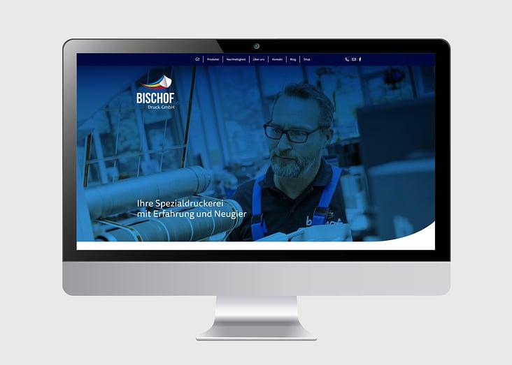 Website Relaunch Bischof Druck // Startseite