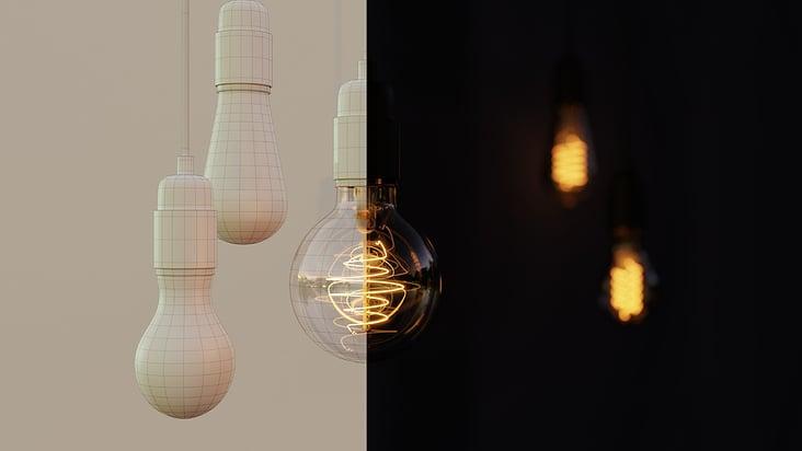 Glühbirnen Gitternetz