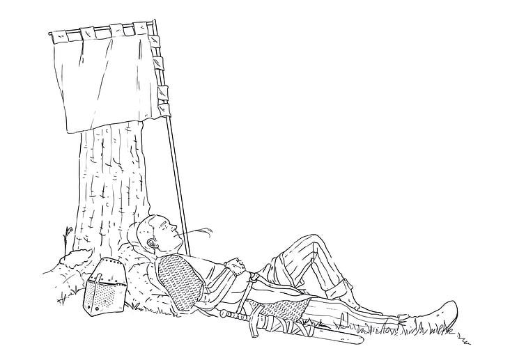 Schlafender Ritter