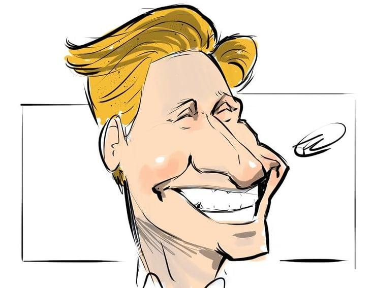 Digitale Live Karikatur