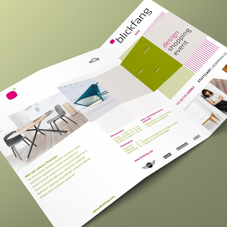 Flyer, Blickfang Design-Messe, Stuttgart