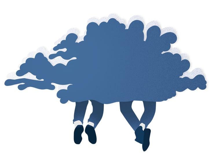 Wir saßen auf einer Wolke und ließen die Beine baumeln– Coverillustration