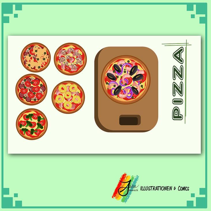 """""""Pizza"""" Vektorgrafik"""