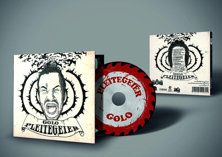 CD Coverdesign & Illustration für Musiker GOLO