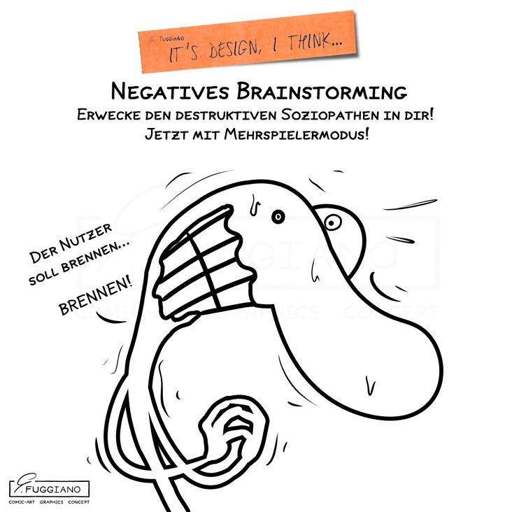 Methode: Negatives Brainstorming
