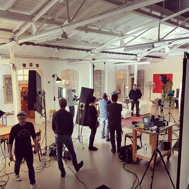 Dreharbeiten im Studio