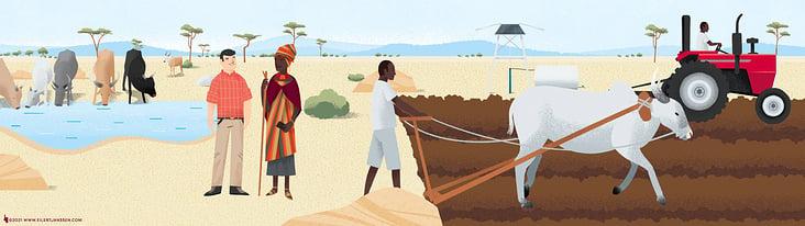 Conference Opener Explainer Illustration African Farming