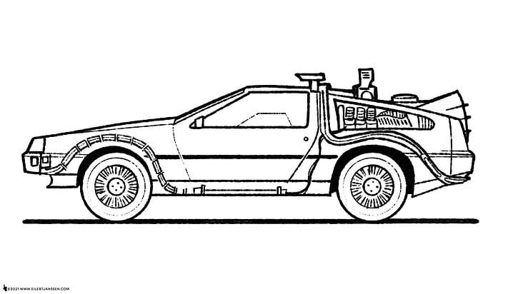DeLorian Time Machine Sketch